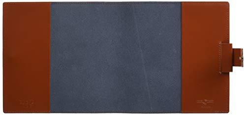 クオバディス手帳本革カバーDUOデュオ16x16cmブルーニュイ&マロンqv16x1619bn