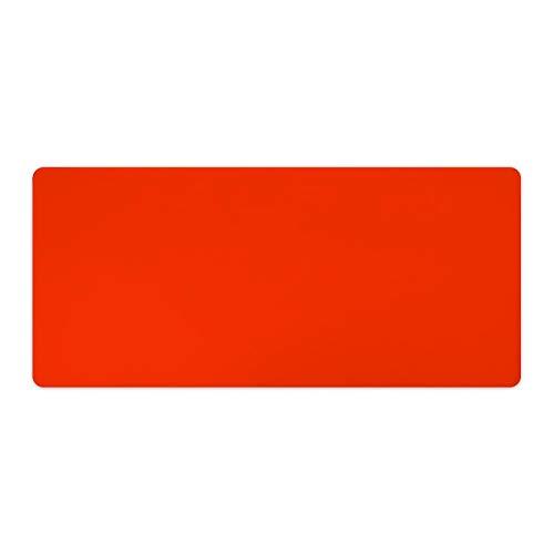 Alfombrilla de ratón para ordenador portátil y escritorio sólida, color naranja, 1 paquete de 900 x 400 x 3 mm, 900 x 400 x 3 mm, 35,4 x 15,7 x 1,1 pulgadas