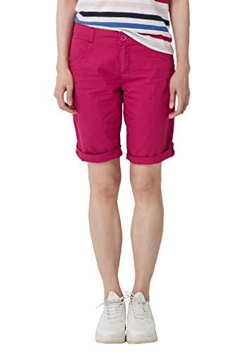 s.Oliver RED Label Damen Smart Bermuda: Shorts aus Baumwolle Berry 38
