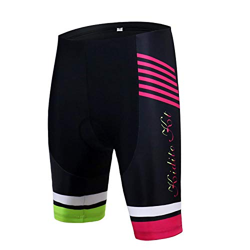 KIDITOKT Bicycle Shorts Women Summer Cycling Clothing MTB Bike Breathable Quick Dry Padded Bib Shorts B-XS