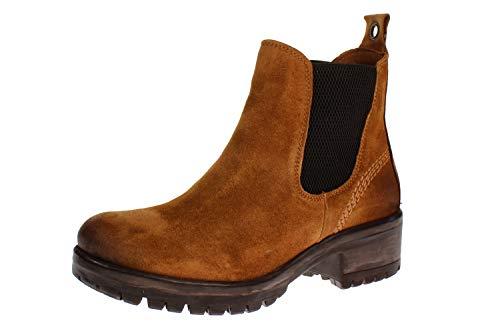 Maca Kitzbühel 2700 - Damen Schuhe Stiefeletten - Camel-Velours, Größe:41 EU