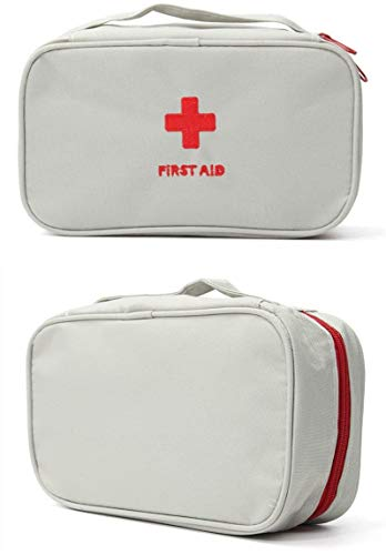 First Aid Bag  First Aid Kit Bag Empty for Home Outdoor Travel Camping Hiking Mini Empty Medical Storage Bag Portable Pouch Gray