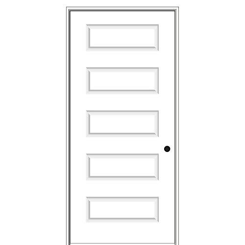 National Door Company ZZ09465L Solid Core Molded 5-Panel, Left Hand Prehung Interior Door, 30