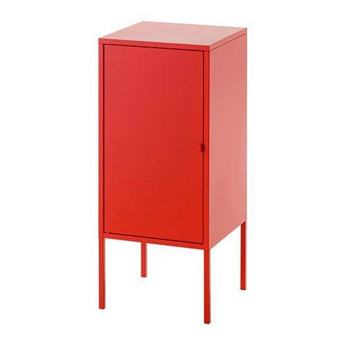 Ikea LIXHULT - Armario de metal (35 x 60 cm), color rojo