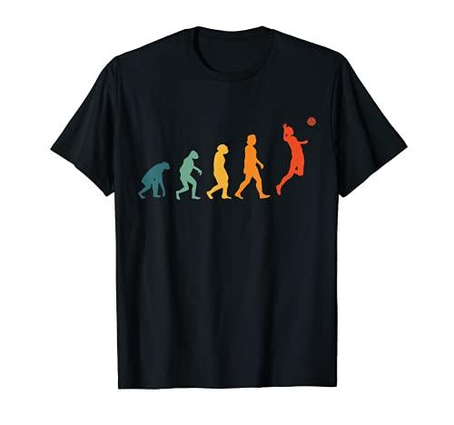 Vóleibol Evolución Retro Voleibol de playa Volleyball Camiseta