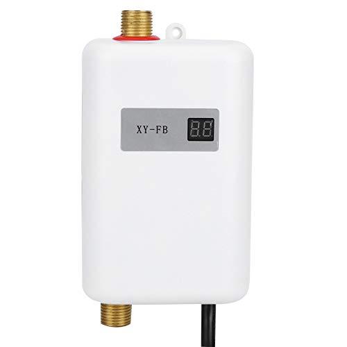 Cocoarm Durchlauferhitzer Mini Warmwasserbereiter Elektrische Durchlauferhitzer für Home Bad Küche Waschen EU Stecker(Weiß)