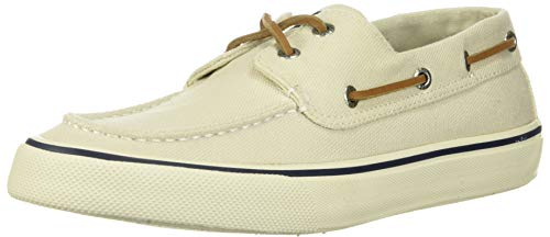 Sperry mens Bahama Ii Distressed loafers shoes, Off White, 8 US