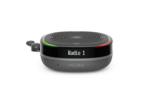 Pure StreamR Splash Radio digital portátil (DAB/DAB+ y FM, altavoces Bluetooth, Alexa, hasta 15 horas de duración de la batería, resistente al agua según IP67) - Antracita