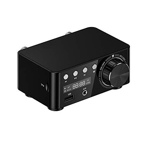 Staright HiFi BT 5.0 Amplificador Digital Mini Amplificador de Audio estéreo 100W Receptor de Audio de Potencia de Sonido de Doble Canal AMP estéreo USB para Cine en casa