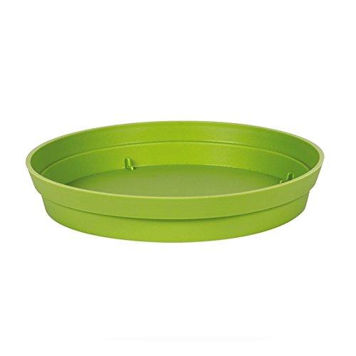 EDA Plastiques - Pot de Fleur - Soucoupe Ø15 cm pour Pot de Fleur Toscane Ø20 cm- Vert Matcha