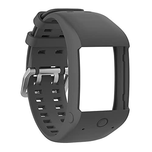 YDL Cómoda Correa de muñeca de Reloj de reemplazo de Silicona para Polar M600 Smart Watch Strap Strap Dropship 8.2 (Color : Gray)