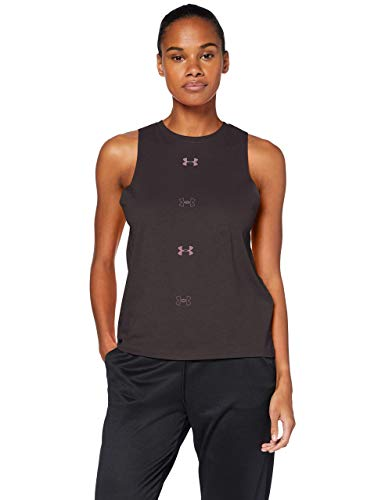 Under Armour Graphic Muscle SL 6M Tanque, Mujer, Gris, SM