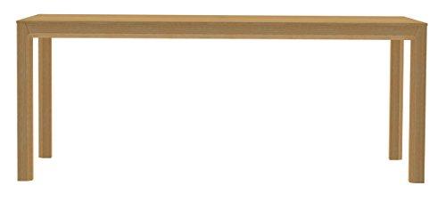 Tenzo Patch Table de Salle à Manger, Panneaux de Particules/MDF, Blanc/Chêne, 190x95x75 cm