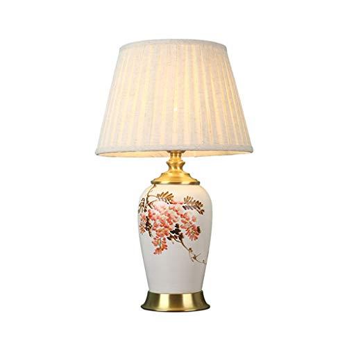Lámpara de lectura QFF Multi Estilo Lámparas de mesa, diseño de flores y pájaros Cerámica, Lámpara de mesa cálida Creatividad Showroom Biblioteca Decorativa Lámparas Caliente, #7