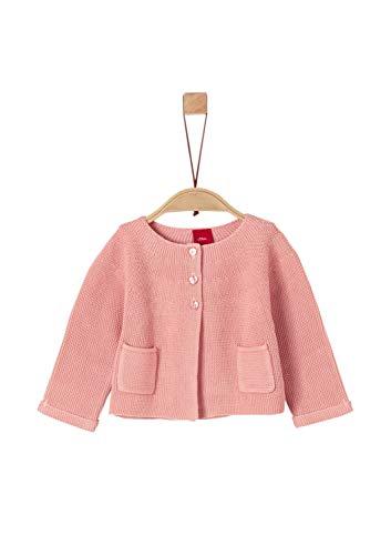s.Oliver Baby-Mädchen 65.908.64.8938 Strickjacke, Rosa (Dusty Pink 4257), (Herstellergröße: 80)
