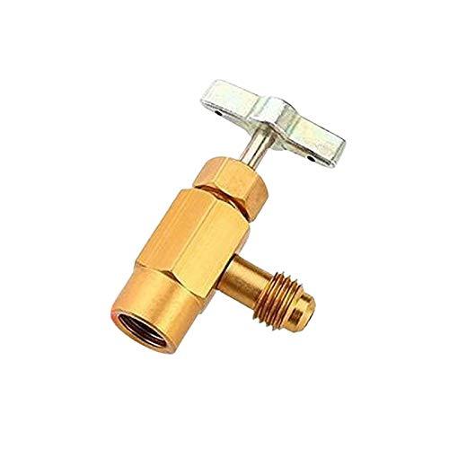 iBaste R-134a M14 AC kann Ventil Flaschenöffner,Auto Klimaanlage Kältemittel Kann Gewinde Ventil Werkzeug Flaschenöffner