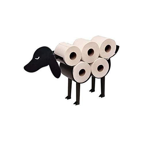 Portarrollos De Papel Higiénico Para Cachorros, Estante De Almacenamiento De Papel Higiénico Independiente Para 8 Rollos De Papel, Portarrollos De Baño Montado En La Pared, Colgador De Tejidos De Arte