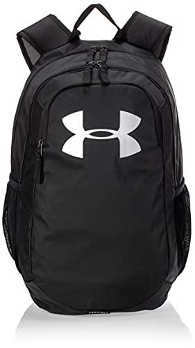 Under Armour UA Scrimmage 2.0 Backpack, mochila unisex, mochila resistente al agua unisex, negro (Black/Black/Silver(001)), Taglia unica