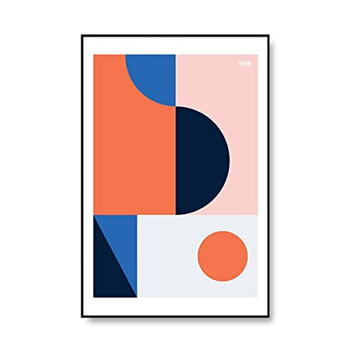 Exposición bauhaus cartel geométrico único minimalismo arte lienzo impresión mural abstracto hogar sin marco lienzo pintura A4 15x20 cm