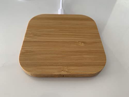 Shernax Cargador Wireless inalámbrico de Bambu 1,1 Amperios a 9 Voltios - 1 Amperio a 5 Voltios