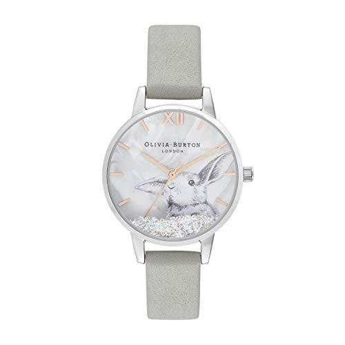 Olivia Burton Damen Analog Quarz Uhr mit Leder Armband OB16WL86