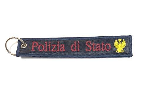 GS1 Portachiavi a Nastro Polizia di Stato Nuovo Logo Prodotto Italiano Ufficiale Art. MP-PS
