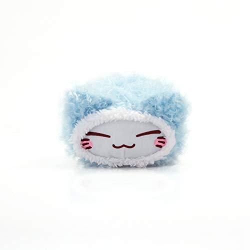 Nemu Nemo Neko Mini Fell Farbe Blau Blue Manga Anime Otaku Kawaii Stofftier Plüschtier Plush Cat Merchandise zum Kuscheln und Dekorieren Original aus Japan Höhe 10cm Breite 15cm
