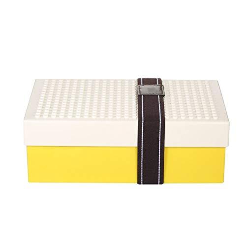 Fiambrera portátil para pícnic con tenedor plegable y soporte de ladrillo (color: blanco)