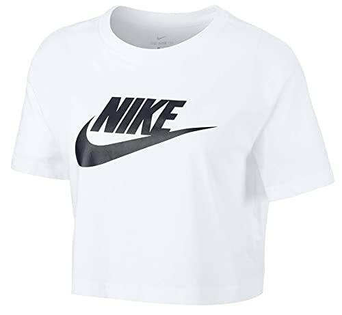 Nike Futura Icon Cropped Women Shirt (S, White)