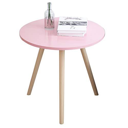 Mesa de centro, madera maciza de madera nórdica de la mesa redonda pequeña, mesa de noche simple / mesa lateral de sofá, mesa de negociación de negocios / mesa de ocio ( Color : B , Size : 40X42.5CM )