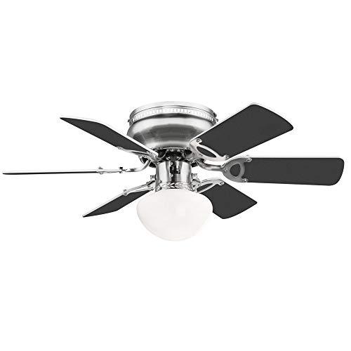 Decken Ventilator Vor-Rück-Lauf Lüfter Leise FERNBEDIENUNG Lampe dimmbar im Set inkl. RGB LED Leuchtmittel