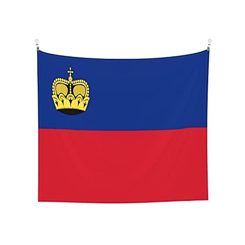 Tapisserie Flagge von Liechtenstein Wandbehang Tarot-Tarot Boho Beliebte Mystic Trippy Yoga Hippie Wandteppiche für Wohnzimmer Schlafzimmer Wohnheim Heimdekor Schwarz & Weiß Stranddecke