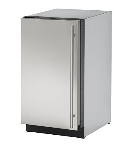 U-Line U-3018RS-01A 18 Inch Under Counter Refrigerator, Stainless Steel, Left Hand Hinge (Certified Refurbished)