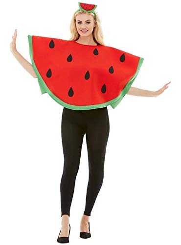 Funidelia | Disfraz de sanda para Hombre y Mujer Talla Estndar Fruta, Comida - Rojo