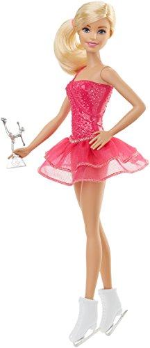 Barbie Quiero Ser patinadora, muñeca rubia con accesorios (Mattel FFR35)