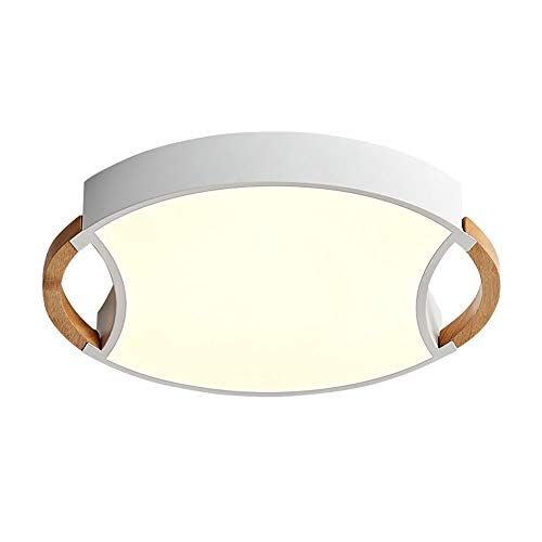 Warm Home materiaal aluminium bruin plafondlamp hal twee vorm cardioïde lamp LED verlichting slaapkamer woonkamer dun wit maat 50 cm x 6 cm