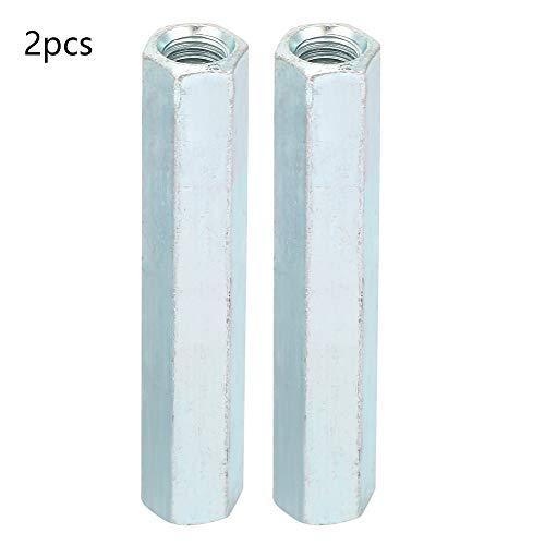 Hyuduo 2 Stück M8 * 66 Lange Sechskantmuttern Verbindungskupplungsmutter Lange Stangenkupplung Sechskantmutternschraubensäulen zum Verbinden von Längen durchgehende Gewindestangen