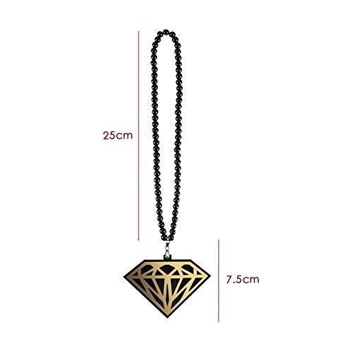 LSBXWL La Forma del Coche de la Manera Pendiente del Diamante de acrílico Encanto de la Personalidad automático Espejo Retrovisor Interior Ornamentos Colgantes Collar de Perlas de decoración