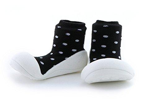 Attipas - ergonomische Lauflernschuhe Baumwolle Urban (21.5, schwarz)