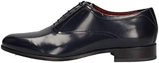 MARINI Zapatos Derby Elegante Hombre B8 141 Piel Azul Original PE New