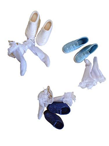 fat-catz-copy-catz 2X Paires De Quality Chaussures Mode Talon Haut Talons, Sandales & Chaussette pour Poupée Costume Robe Jouets