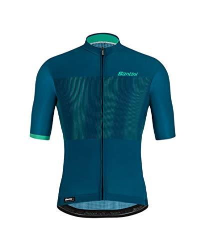 Santini Fahrradbekleidung für Herren, Trikot, Mito Grido (S, Petrol)