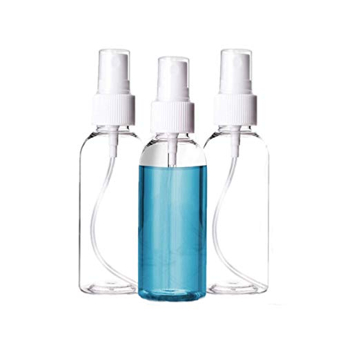 100 ml 3.3 oz Clear Plastic Spray Bottles with Fine Mist Sprayers.Refillable Small Plastic Bottles for Travel, Essential Oils, Perfumes.3Pcs