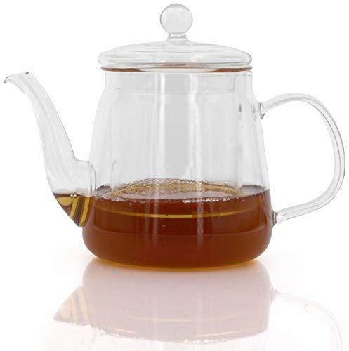 Tetera té Jarra Jarra Jarra Té Tea Cristal térmico para bebidas calientes y frías, Kanne2, 450ml