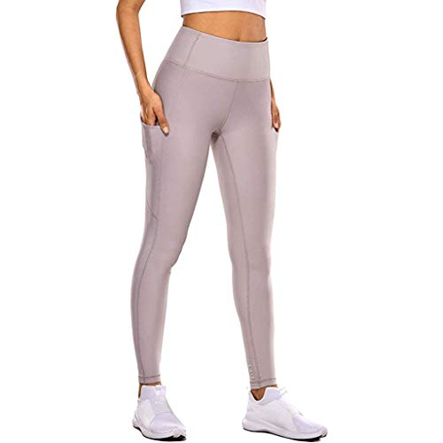 Auiyut Damen Sportleggings Kompressions Sport Hose Schnelltrocknend Fitness Yoga Hosen Dehnbar Hosen Knöchellänge Jogginghose mit Versteckte Tasche