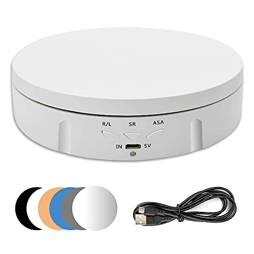 Giratoria eléctrica giratoria para fotografía, 90/180/360 grados ajustable motorizado giratorio soporte pantalla...