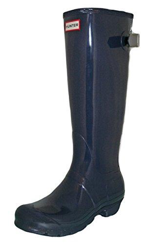 Mujer Hunter Original Adjustable Back Gloss Lluvia Botas De Goma Botas - Marina - 37