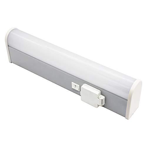 IMVSINCERE LED-Bad-Wandleuchte IP44 49 cm inklusive 1 x 10W LED mit Schalter und Steckdose 4000K Warmweiß 1000LM Rasierlampe