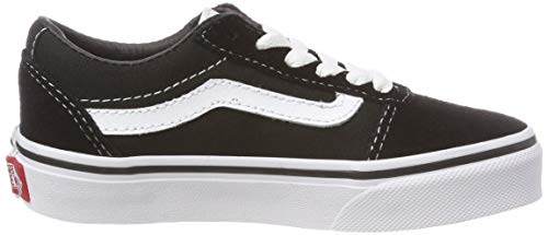 Vans Unisex-Kinder Ward Suede/Canvas Sneaker, Schwarz ((Suede/Canvas) Black/White Iju), 35 EU