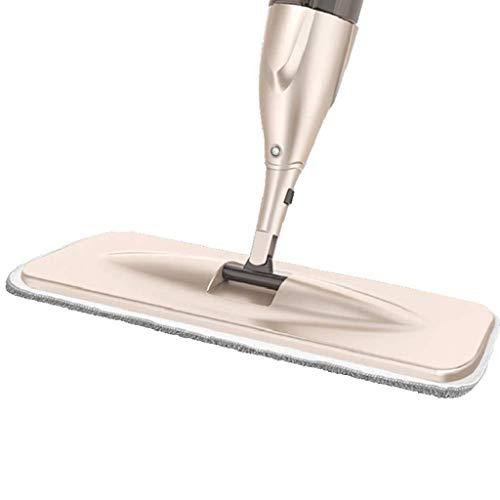 DFJU Kit de esfregão de pulverização de Piso para limpeza de Piso de Madeira, esfregão Plano de rotação de 360 graus a seco e úmido para limpeza de Piso, cozinha, ladrilho, Laminado e Janela